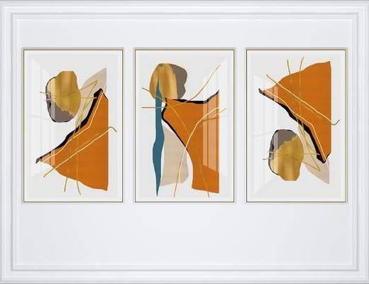 挂画组合, 抽象挂画, 艺术挂画, 组合画, 现代