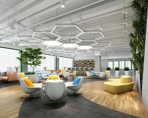 休息區, 休閑區, 桌椅組合, 樹木, 綠植植物, 植物, 綠植, 現代