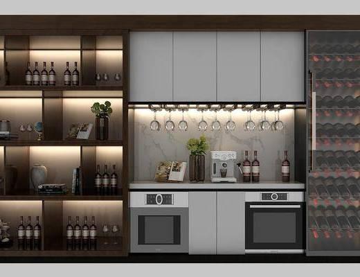 現代酒柜, 置物柜