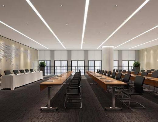 会议室, 现代会议室, 现代多功能会议室, 单椅