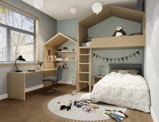 现代儿童房, 儿童房, 北欧儿童房
