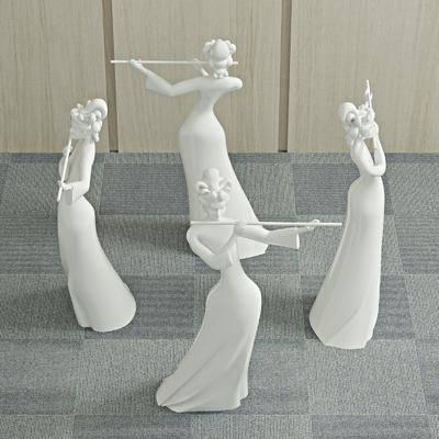 石膏雕塑, 雕像, 装饰品, 陈设品, 摆件, 现代