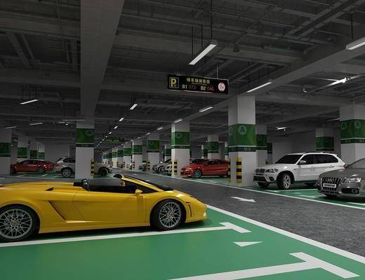 地下停车场, 汽车组合, 现代