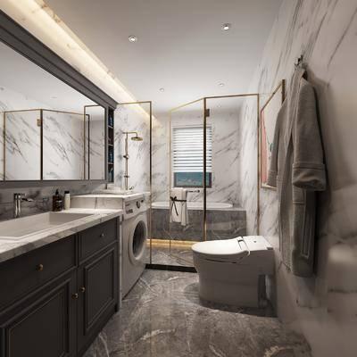 卫浴, 洗手盆, 洗衣机, 马桶