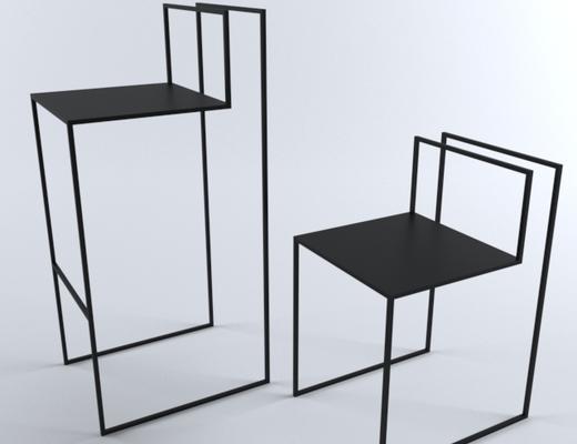 现代简约, 椅子, 现代椅子