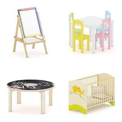 儿童床, 茶几, 画板, 现代