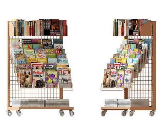 现代杂志架, 杂志, 置物架, 架子