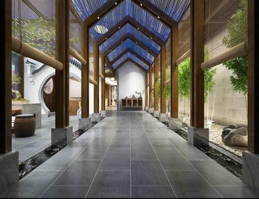 走廊, 过道, 庭院