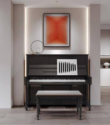 现代, 钢琴房, 工装