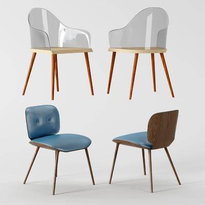 北欧, 现代, 单椅, 椅子, 单体