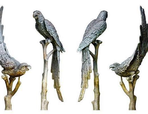 现代鹦鹉雕塑, 老鹰雕像