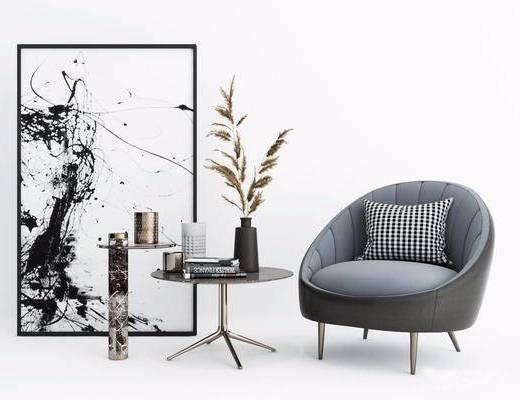 现代单人沙发, 单人沙发, 单椅组合
