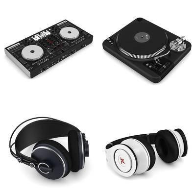 耳机, 打碟机, 乐器