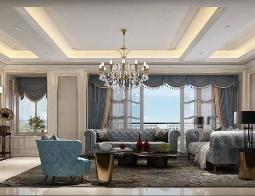 客廳, 沙發組合, 簡歐客廳
