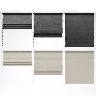 窗帘, 现代窗帘, 布艺窗帘, 现代布艺窗帘, 罗马帘, 组合, 现代