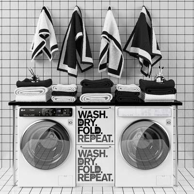洗衣机, 毛巾, 北欧洗衣机, 北欧