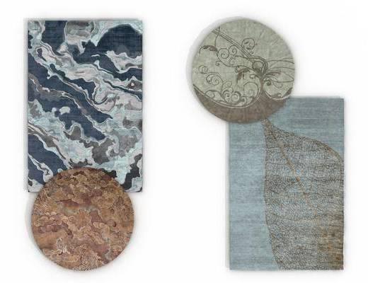 地毯组合, 方形地毯, 新中式