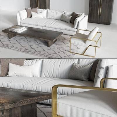 现代沙发茶几