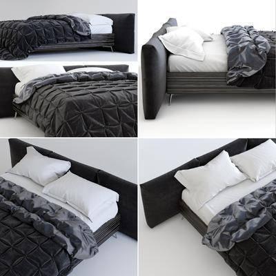 床, 双人床, 现代