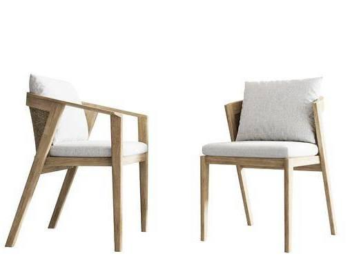 北欧, 单椅, 单体