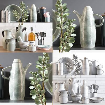 现代, 厨房摆件, 摆件, 瓶子, 花瓶