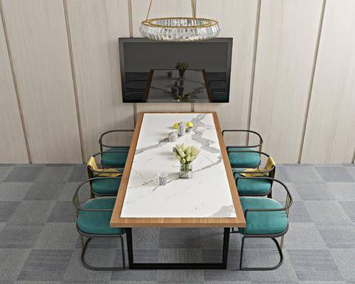 餐桌椅, 餐桌, 餐椅, 单人椅, 吊灯, 北欧