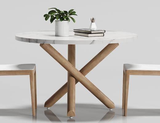 北欧, 休闲, 桌椅, 组合