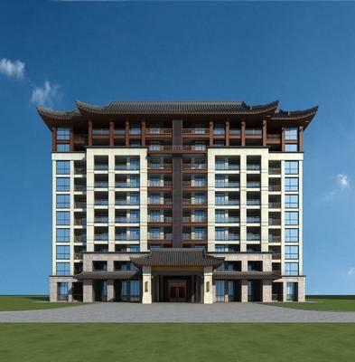 建筑, 商业楼盘, 中式