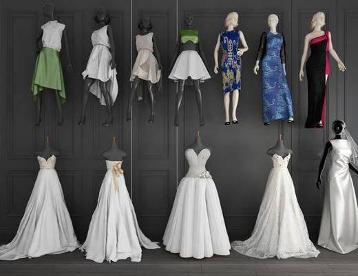 女人, 模特, 现代服装店模特, 衣服