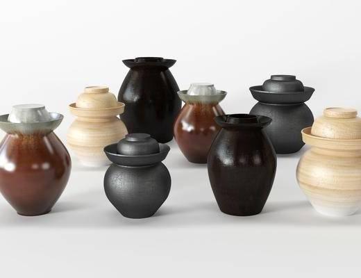 陶瓷罐, 坛子, 陶瓷器