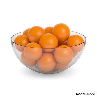现代, 摆件, 水果, 橙子