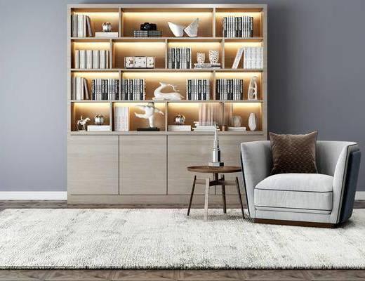 现代, 书柜, 沙发茶几组合