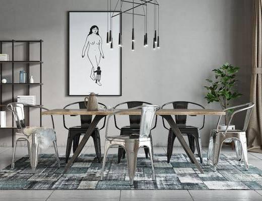 餐桌椅组合, 桌椅组合, 北欧椅子