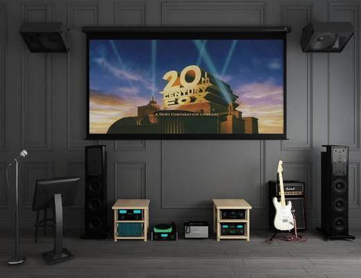 音响组合, 投影屏幕, 碟机投影, 家庭音响, 箱型音响