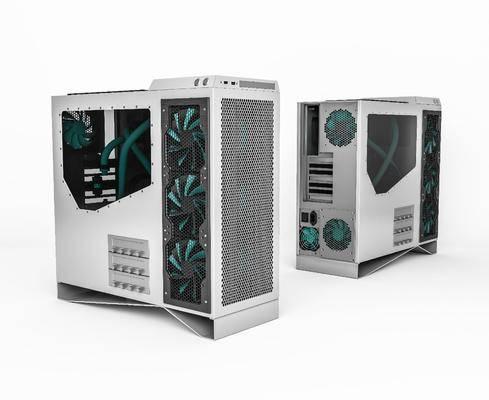 现代, 简约, 电脑主机, 单体, 3d模型
