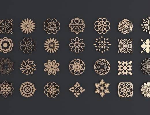 圆形镂花, 雕花, 中式, 双十一
