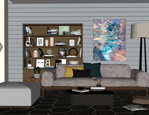 现代客厅, 沙发组合