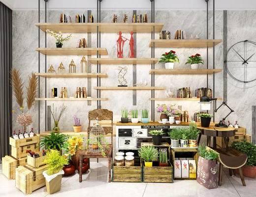 凳子, 装饰架, 墙饰, 摆件, 装饰品, 花盆, 陈设