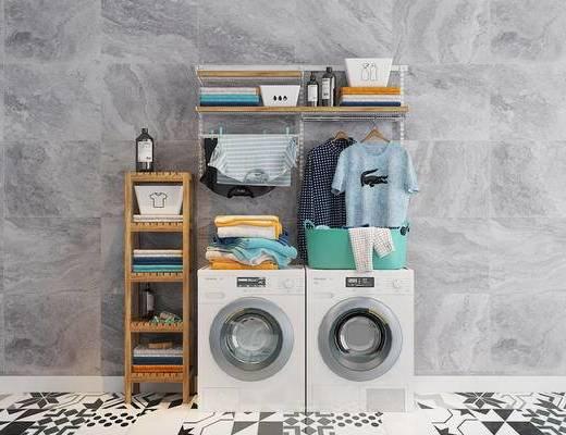 洗衣机, 摆件, 单体