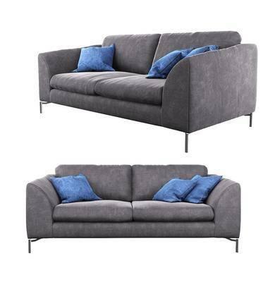 多人沙发, 布艺沙发, 现代沙发, 现代