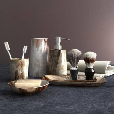 毛巾, 牙刷, 浴室洗漱, 现代
