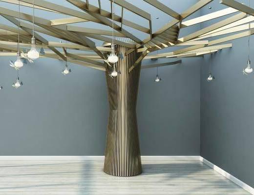 树造型, 吊灯, 现代