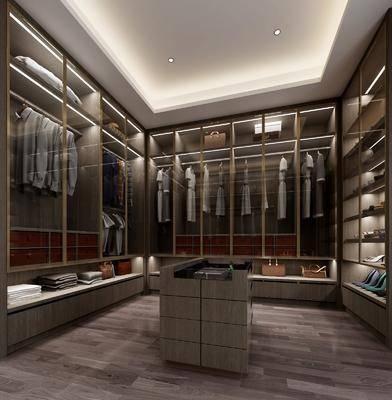 衣帽间, 衣柜, 服饰, 现代