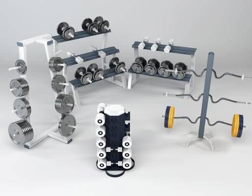 现代, 哑铃, 体育器材, 体育设备, 健身器材