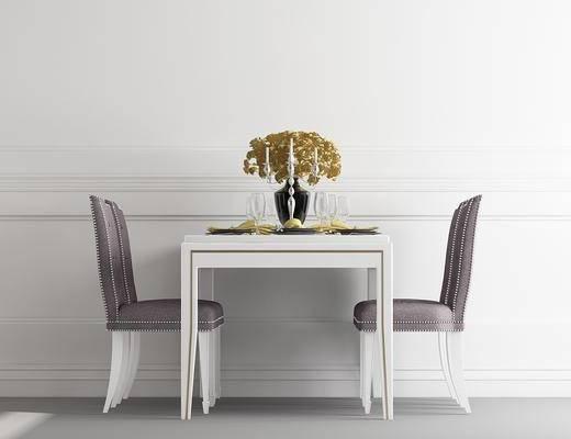 餐桌, 餐椅, 单人椅, 装饰品, 欧式