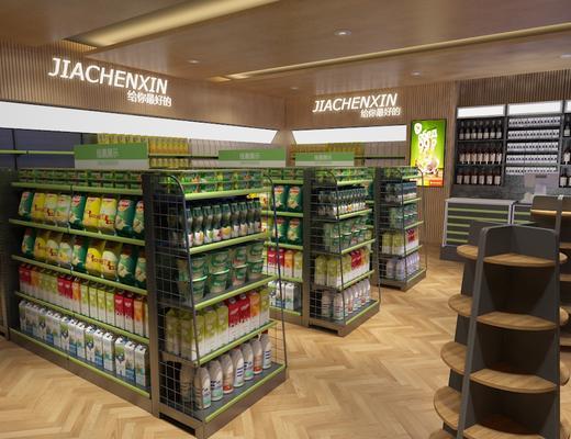 现代, 货架, 零食, 超市