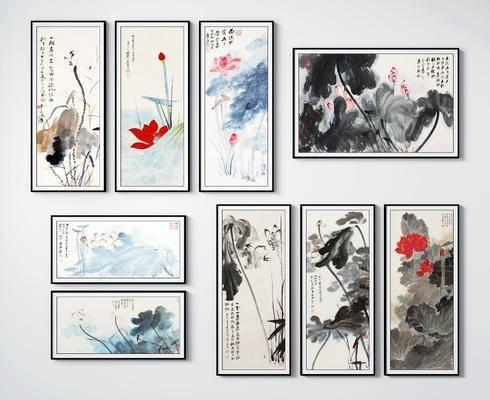新中式, 挂画, 装饰画