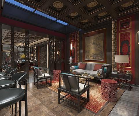 休闲室, 娱乐室, 餐桌餐椅, 大堂