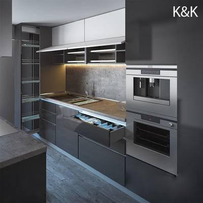 现代, 橱柜, 洗手台, 烤箱