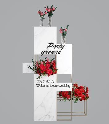 展架, 摆件组合, 花卉, 花艺, 现代